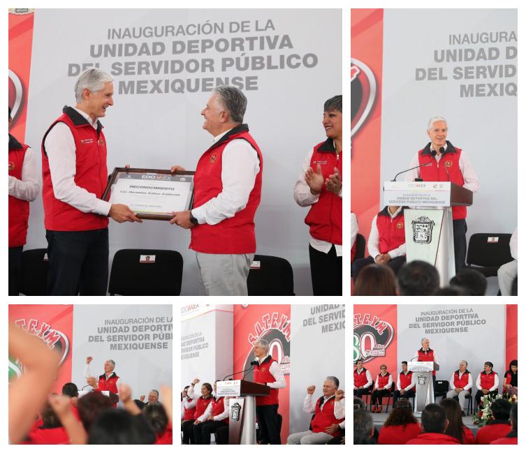 ASISTE ADM A INAUGURACIÓN DE LA UNIDAD DEPORTIVA DEL SERVIDOR PÚBLICO MEXIQUENSE