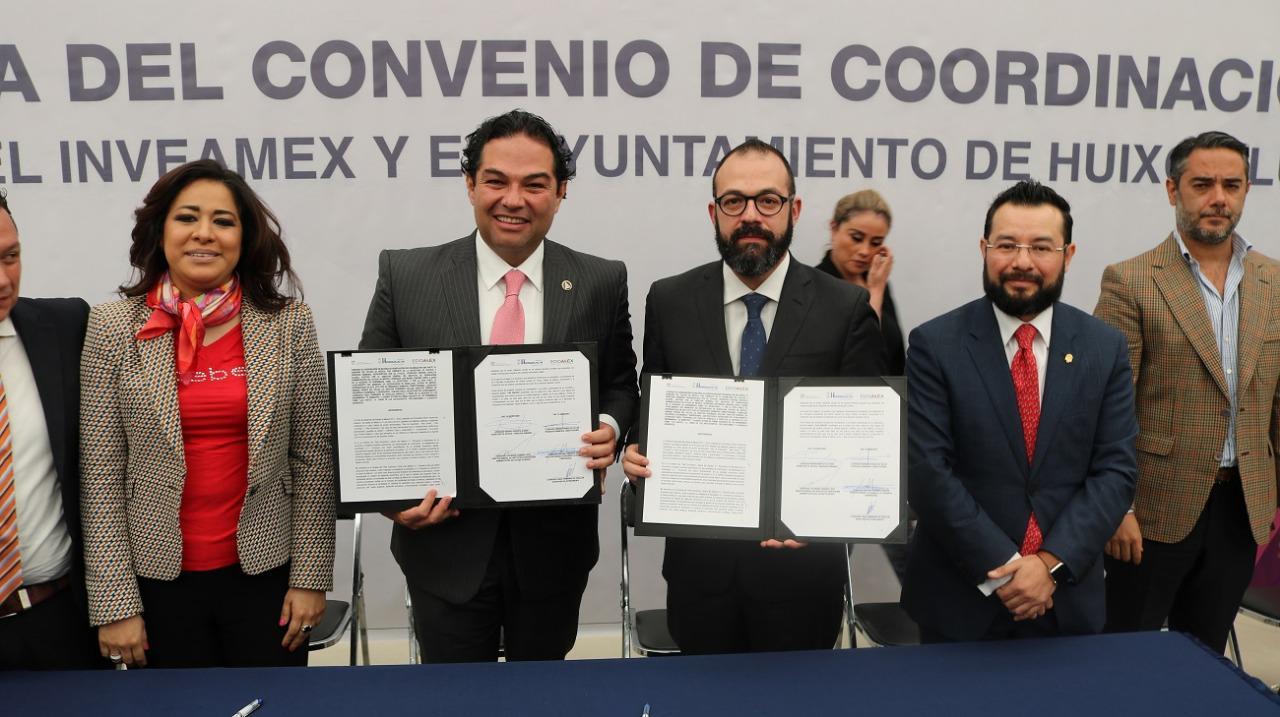 SECRETARÍA DE JUSTICIA Y DERECHOS HUMANOS FIRMAN CONVENIO CON HUIXQUILUCAN PARA AGILIZAR INVERSIÓN