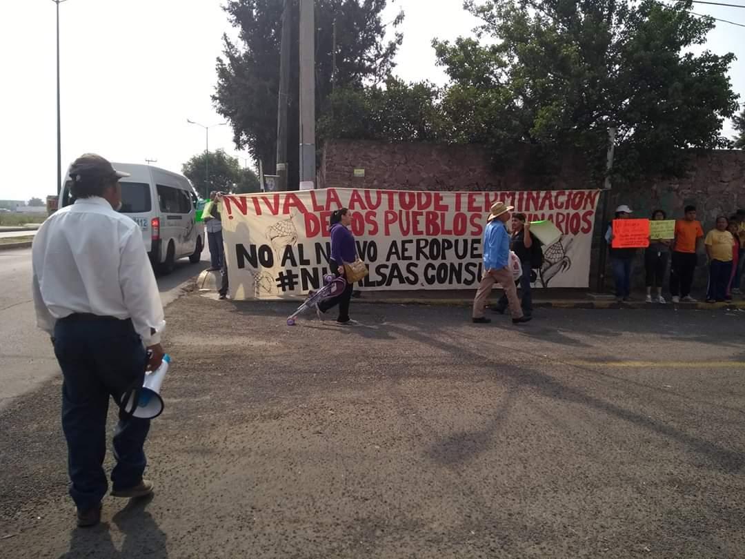 PUEBLOS ORIGINARIOS PROTESTAN EN CONTRA DE LA CONSTRUCCIÓN DEL NUEVO AEROPUERTO