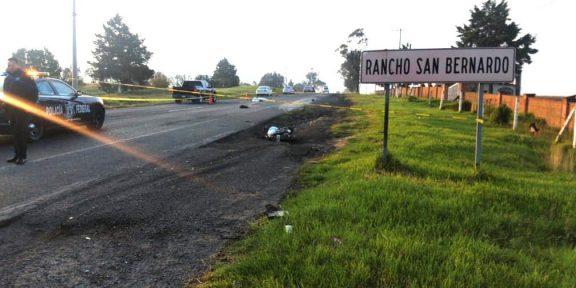 atropellado motociclista Toluca-Atlacomulco