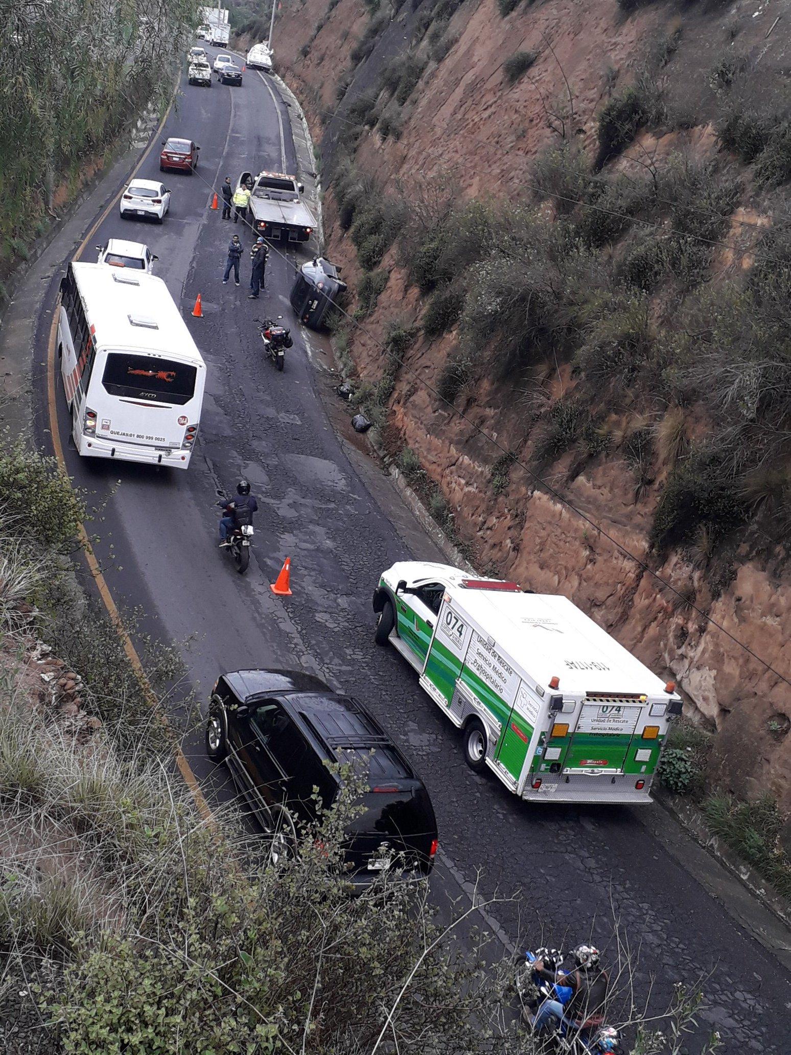 SE REGISTRA ACCIDENTE EN LA AUTOPISTA CHAMAPA- LECHERÍA