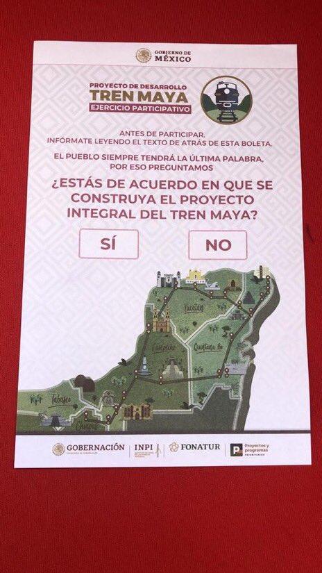APRUEBAN COMUNIDADES INDÍGENAS CONSTRUCCIÓN DEL TREN MAYA