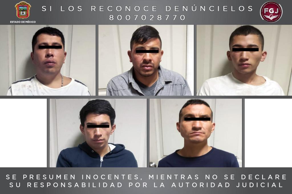 CINCO COLOMBIANOS SON VINCULADOS A PROCESO POR ROBO CON VIOLENCIA EN NAUCALPAN