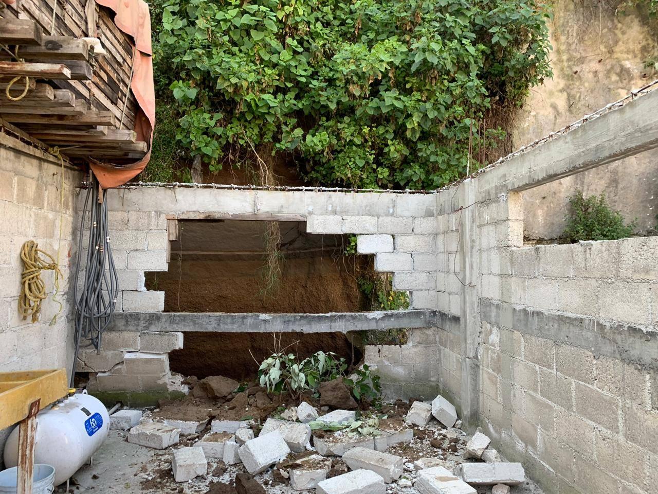 VIVIENDAS RESULTAN AFECTADAS TRAS DESLAVE EN LA ZONA DE SANTA FE