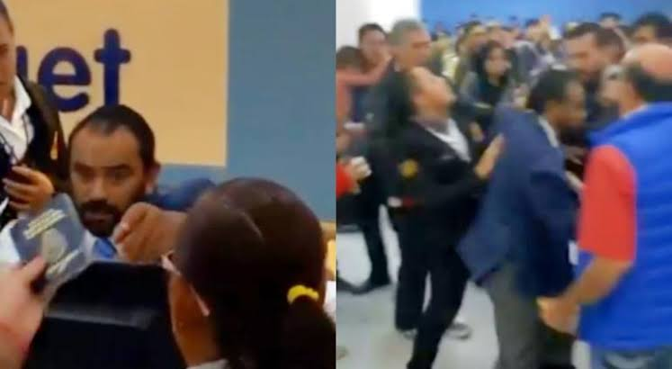 VIDEO: EMPLEADO DE INTERJET PROTAGONIZA ALTERCADO EN EL AICM
