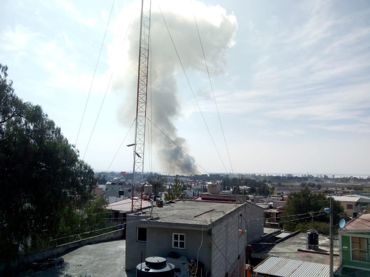 ATIENDEN SERVICIOS DE EMERGENCIA EXPLOSIÓN EN ZUMPANGO