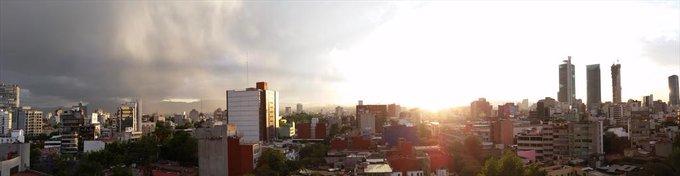 LLUEVE EN PLENO FEBRERO EN EL EDOMÉX Y LA CDMX