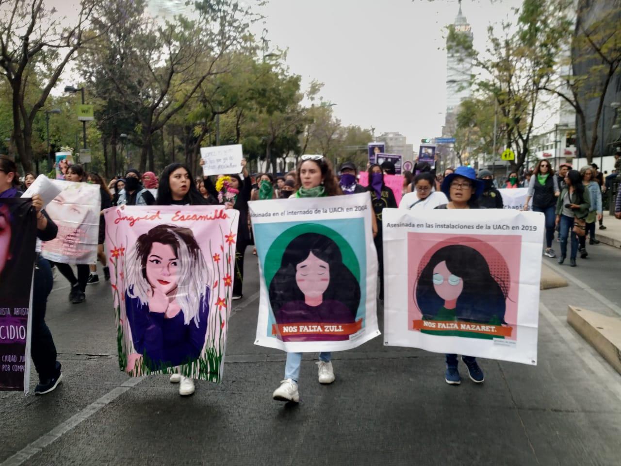 CON MARCHAS PROTESTAN POR FEMINICIDIO DE INGRID ESCAMILLA EN CDMX
