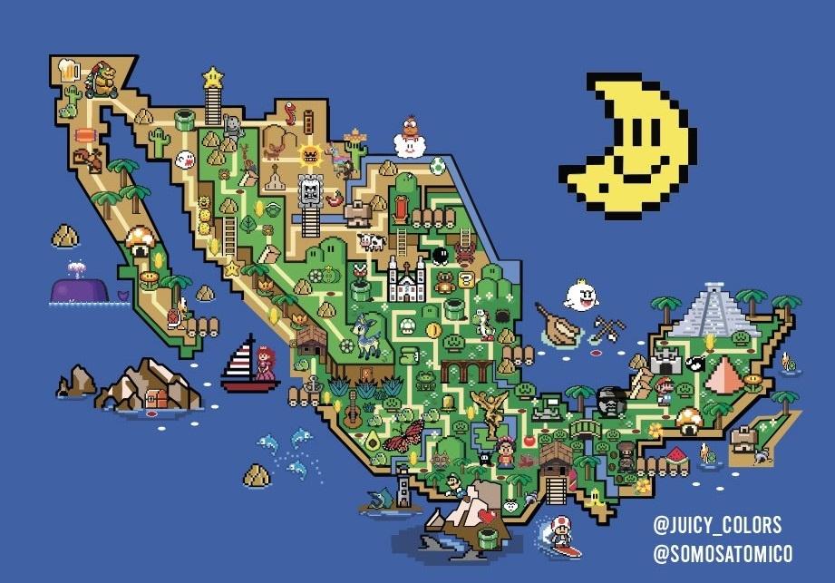 MÉXICO SE CONVIERTE EN SUPER MARIO WORLD