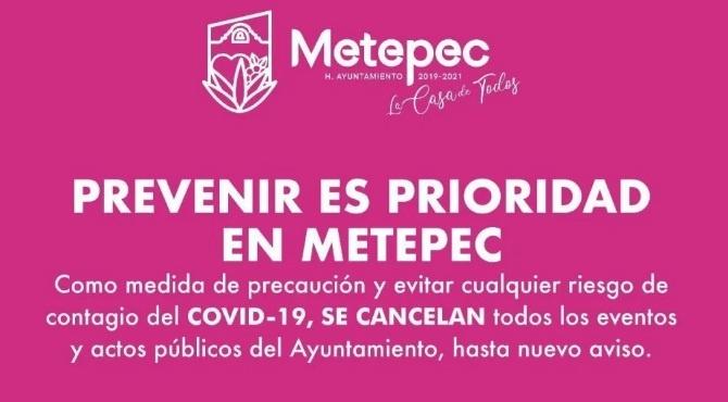 "CANCELAN ""FERIA DE SAN ISIDRO"" METEPEC 2020 POR COVID-19"