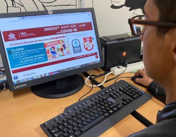 CREAN SITIO WEB PARA INFORMAR SOBRE EL COVID-19 EN NAUCALPAN