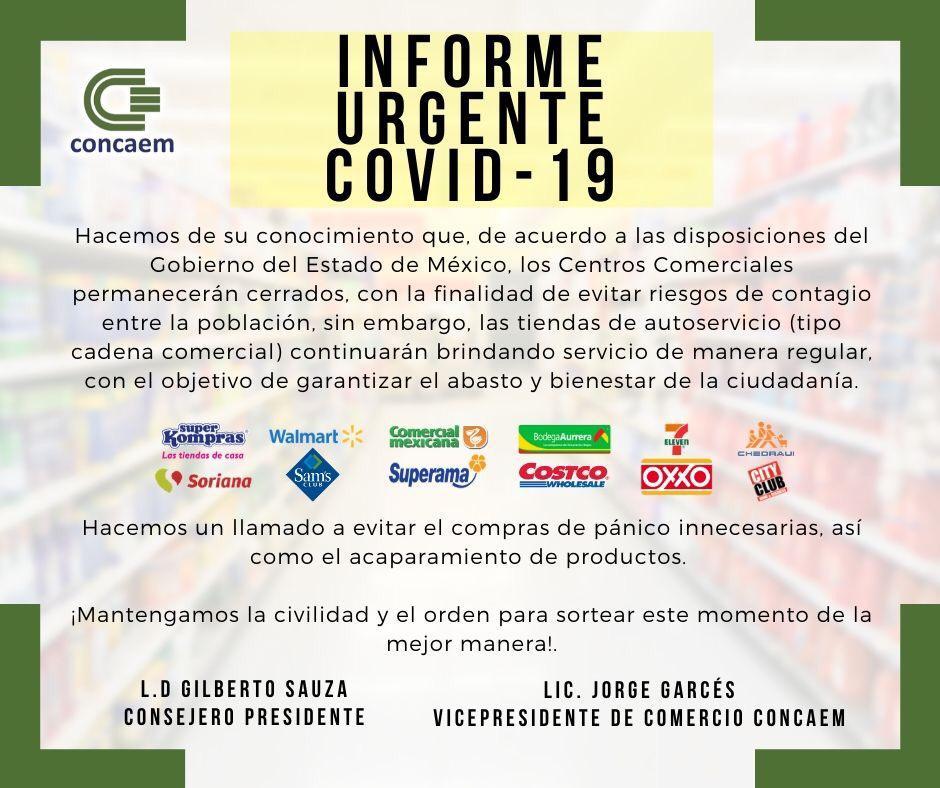 POR COVID-19, CENTROS COMERCIALES PERMANECERÁN CERRADOS