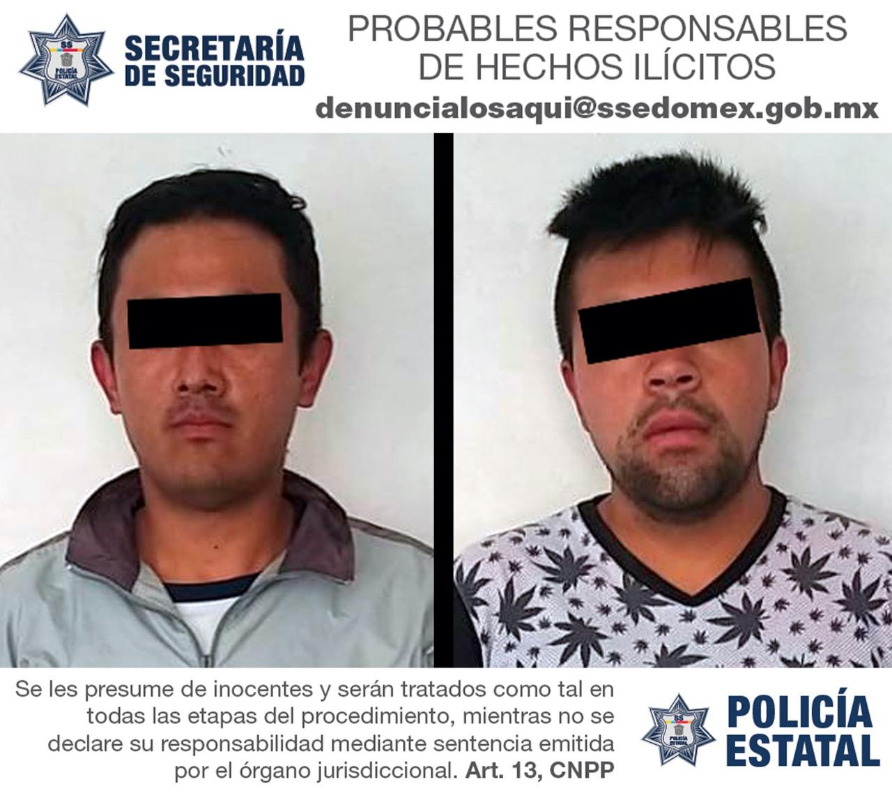 APREHENDEN A DOS RESPONSABLES DE DESVALIJAR UN VEHÍCULO CON REPORTE DE ROBO