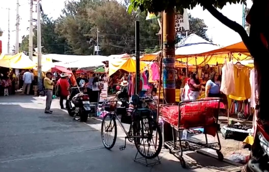 VIDEO: MERCADOS DEL VALLE DE MÉXICO REGISTRAN GRAN AFLUENCIA PESE A LA CONTINGENCIA