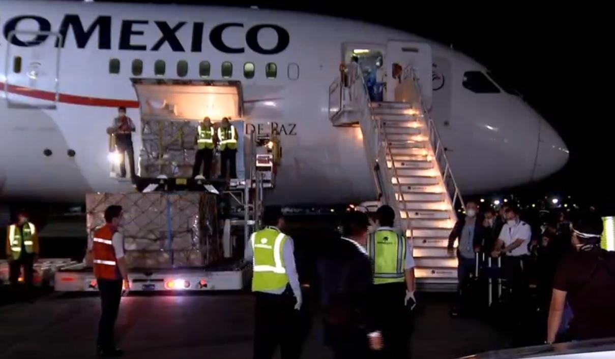 LLEGAN A MÉXICO INSUMOS MÉDICOS DESDE CHINA PARA ATENDER COVID-19