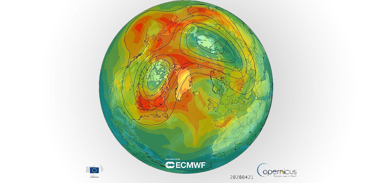 CIERRE DE AGUJERO EN ABRIL PROVOCÓ UN NIVEL RÉCORD DE OZONO