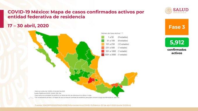 SUMAN MIL 859 DECESOS POR COVID-19 Y 19 MIL 224 CASOS POSITIVOS EN MÉXICO