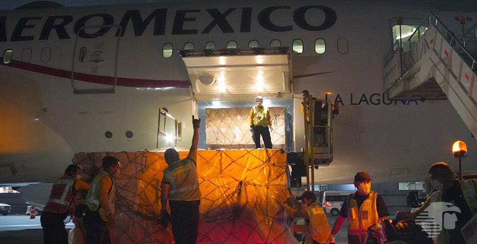 ARRIBÓ A MÉXICO EL CUARTO AVIÓN CON INSUMOS MÉDICOS PARA ENFRENTAR EL COVID19
