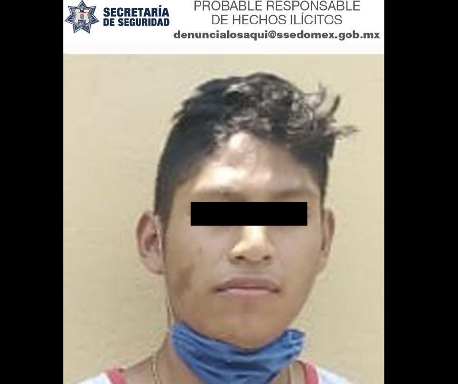 DETIENE SECRETARÍA DE SEGURIDAD A PROBABLE RESPONSABLE DE ROBO EN ECATEPEC