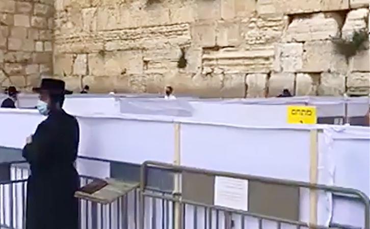 GRADUALMENTE, Y CON MASCARILLAS, PERMITE JERUSALÉN EL REGRESO AL MURO DE LAS LAMENTACIONES
