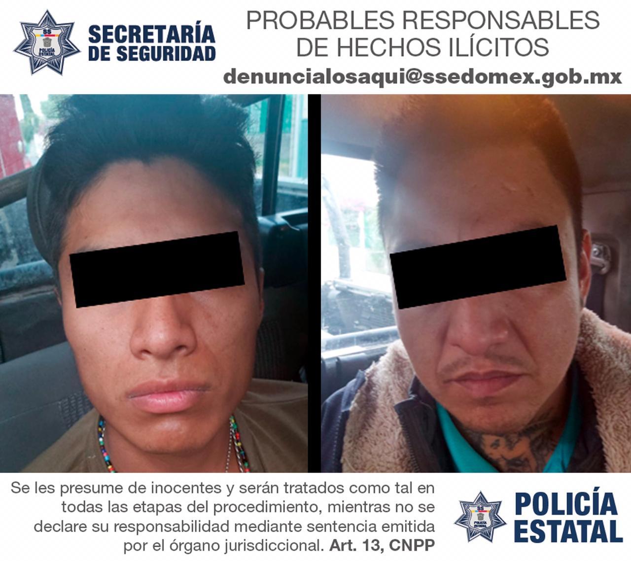 APREHENDEN A DOS PROBABLES RESPONSABLES, DEL DELITO DE ROBO CON VIOLENCIA A UN TAXISTA