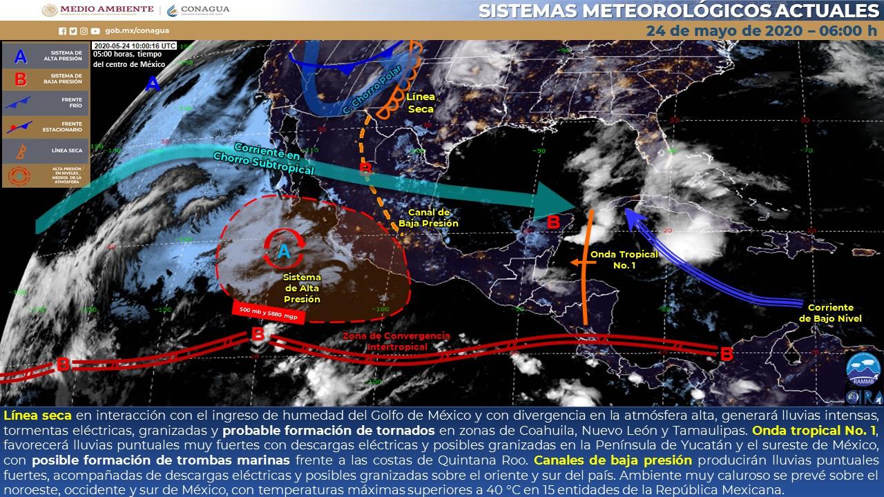ESTE DOMINGO HABRÁ CLIMA CÁLIDO CON PROBABILIDAD DE LLUVIAS AISLADAS