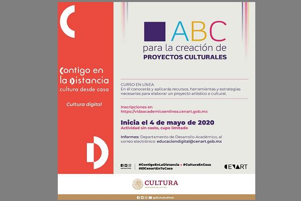 OFRECEN CURSO EN LÍNEA PARA LA CREACIÓN DE PROYECTOS CULTURALES