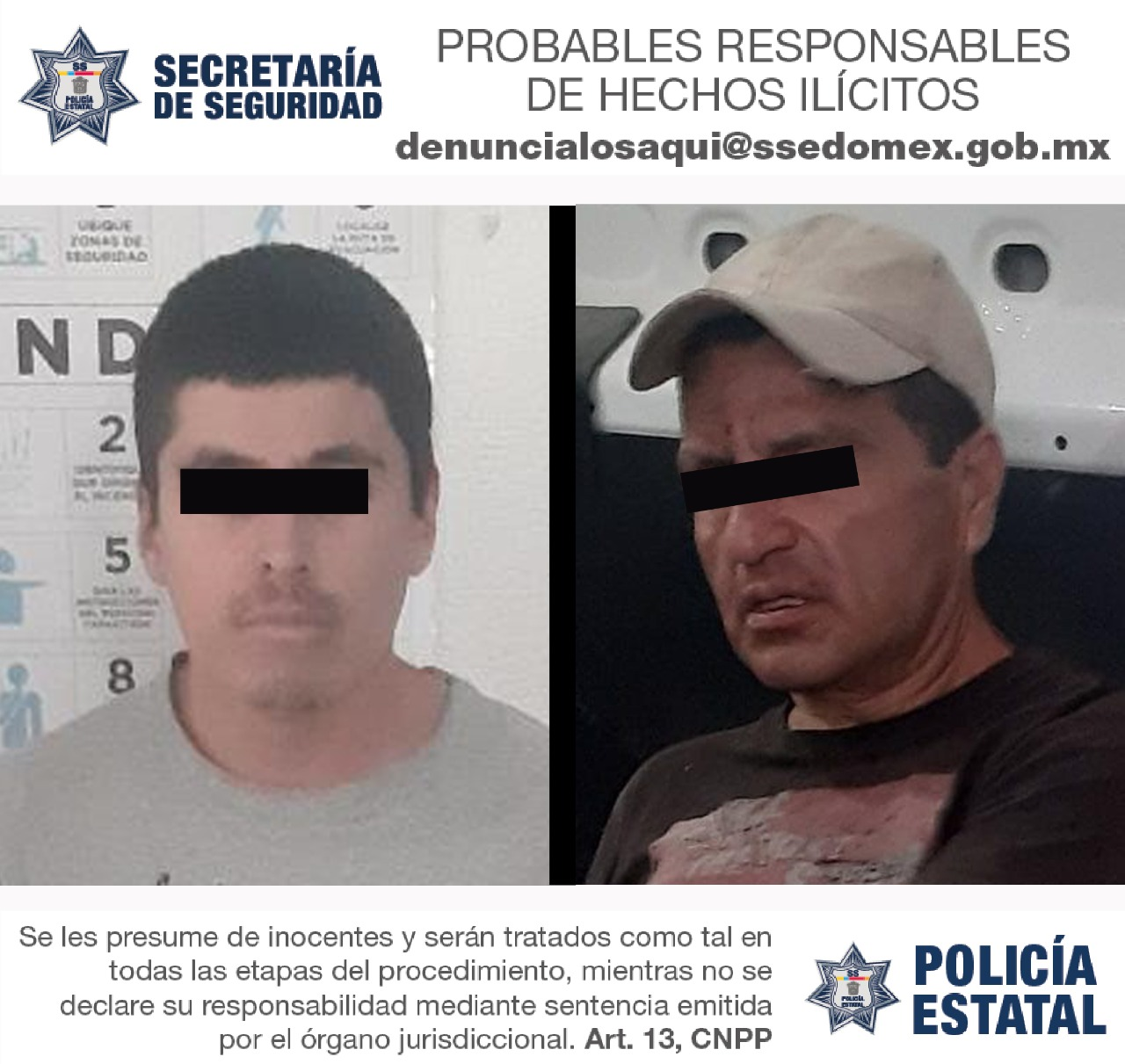 POLICÍAS DE LA SS DETIENEN A DOS PROBABLES RESPONSABLES DEL ASALTO A COMERCIAL DE TELEFONÍA