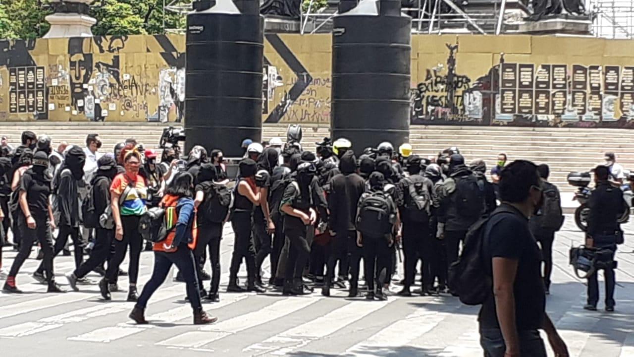 GOBIERNO DE LA CDMX EVITÓ CONFRONTACIÓN CON MANIFESTANTES