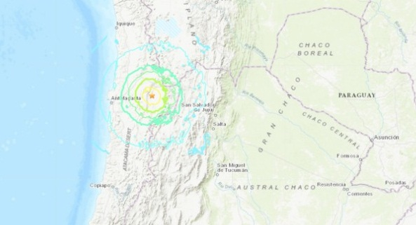 SE REGISTRA SISMO DE MAGNITUD 6.9 EN CHILE